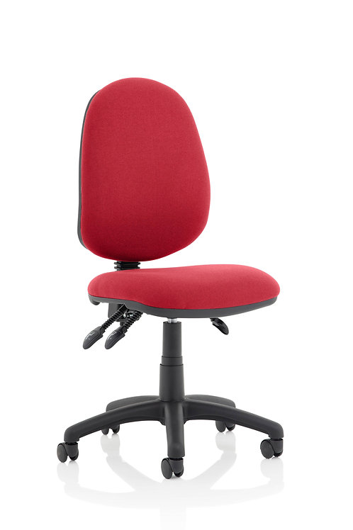 Eclipse Plus III Lever Task Operator Chair Wine Without Arms