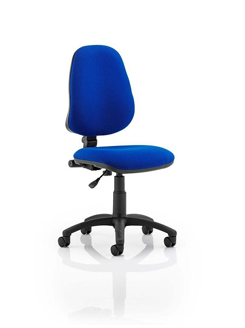 Eclipse Plus I Lever Task Operator Chair Blue Without Arms
