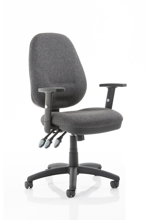 Eclipse Plus XL Lever Task Operator Chair Charcoal With Height Adjustable Arms