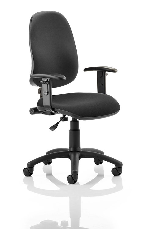 Eclipse Plus I Lever Task Operator Chair Black With Height Adjustable Arms