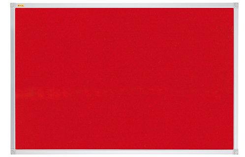 Felt Pin Board X-tra!Line� 240 x 120 CM Red