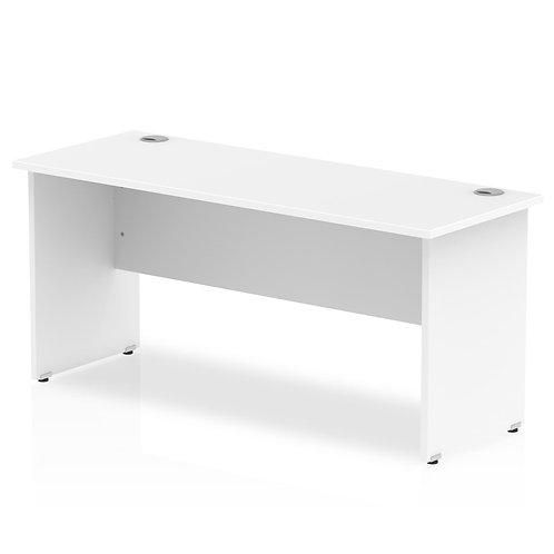 Impulse 1600/600 Rectangle Panel End Leg Desk White