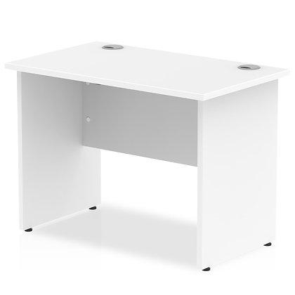 Impulse 1000/600 Rectangle Panel End Leg Desk White