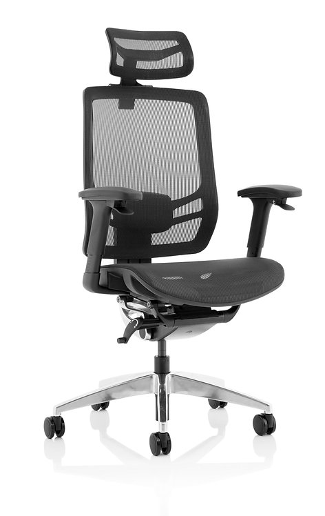 Ergo Click Black Mesh Seat Black Mesh Back with Headrest