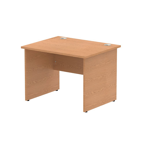 Impulse 1000/800 Rectangle Panel End Leg Desk Oak
