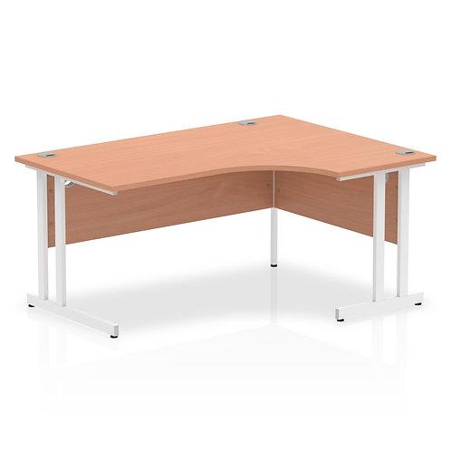 Impulse 1600 Right Hand White Crescent Cantilever Leg Desk Beech