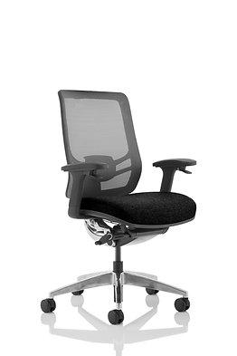 Ergo Click Black Fabric Seat Black Mesh Back