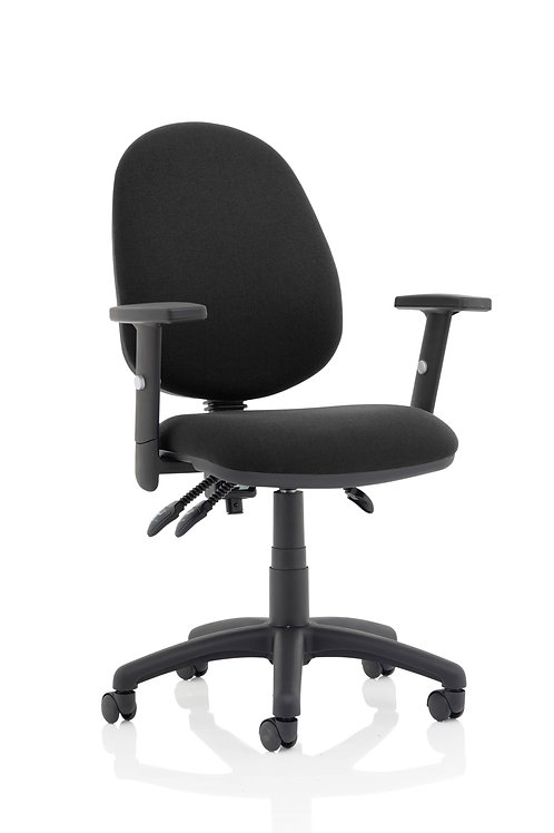 Eclipse Plus III  Lever Task Operator Chair Black With Height Adjustable Arms