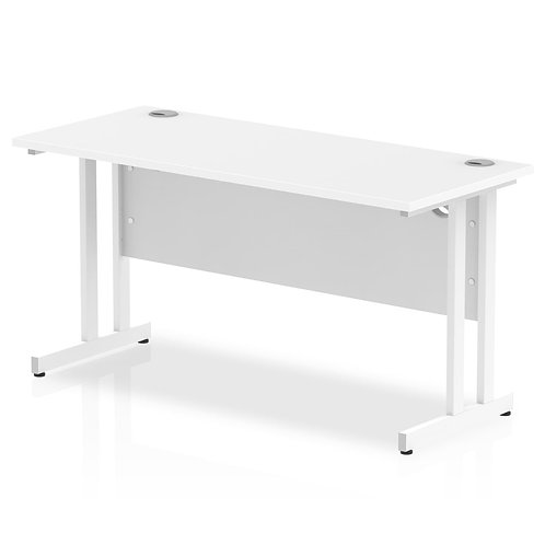 Impulse 1400/600 Rectangle White Cantilever Leg Desk White