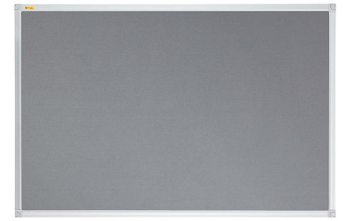Felt Pin Board Contract Line 180 x 120CM Grey