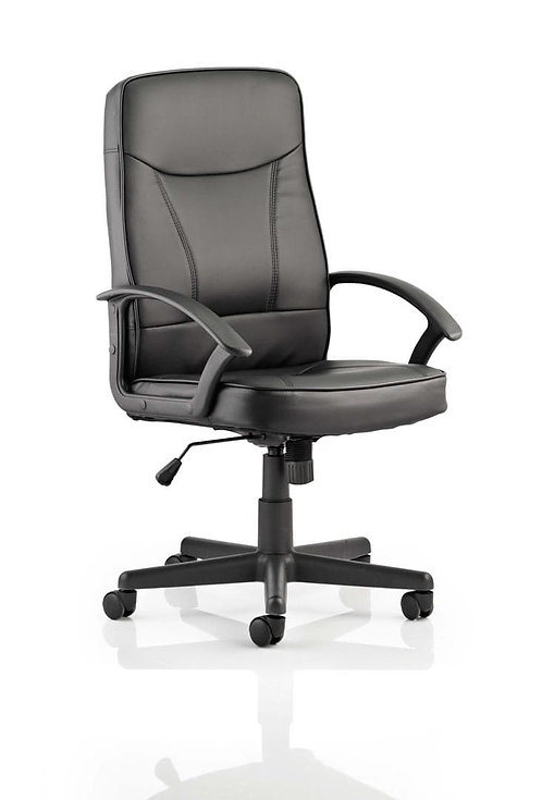 Blitz Executive Black Chair Black Bonded Leather With Arms