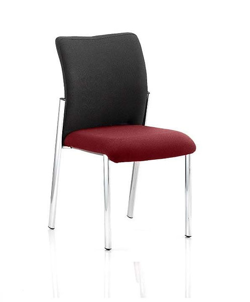 Academy Black Fabric Back Bespoke Colour Seat Without Arms ginseng Chilli