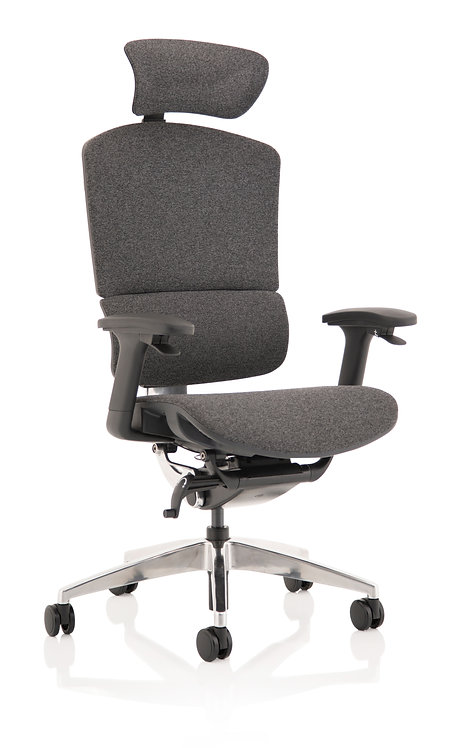 Ergo Click Plus Grey Fabrimesh with Headrest