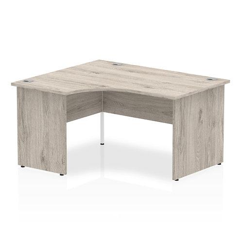 Impulse 1400 Left Hand Panel End Leg Desk Grey Oak