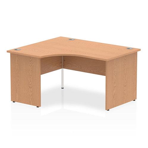 Impulse 1400 Left Hand Panel End Leg Desk Oak