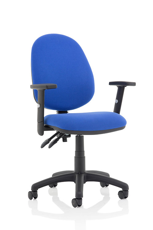 Eclipse Plus II Lever Task Operator Chair Blue With Height Adjustable Arms