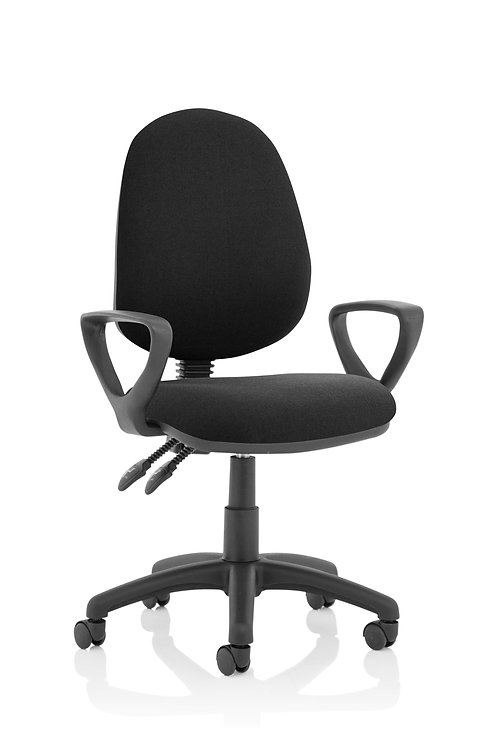 Eclipse Plus II Lever Task Operator Chair Black With Loop Arms