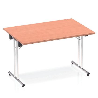 Impulse 1200 Folding Rectangular Table Beech