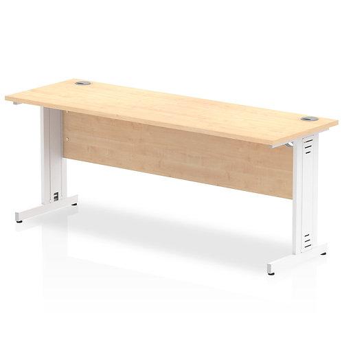 Impulse 1800/600 Rectangle White Cable Managed Leg Desk Maple