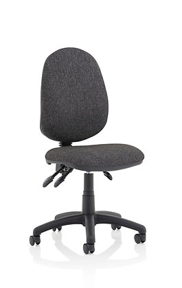 Eclipse Plus III Lever Task Operator Chair Charcoal Without Arms