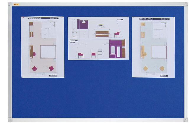 Felt Pin Board Contract Line 120 x 90CM Blue