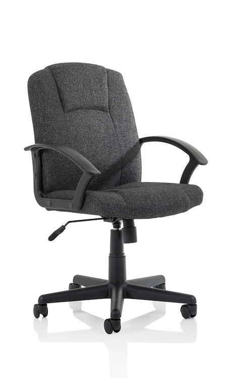 Bella Executive Managers Chair Charcoal Fabric
