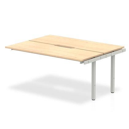 B2B Ext Kit Silver Frame Bench Desk 1400 Maple