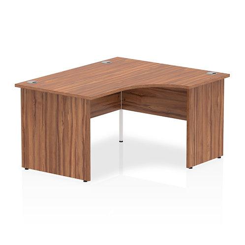 Impulse 1400 Right Hand Panel End Leg Desk Walnut