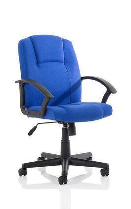 Bella Executive Manager Chair Blue Fabric