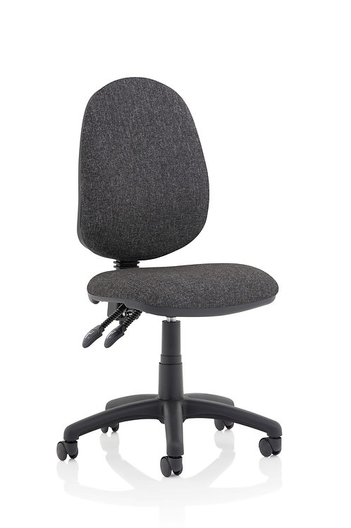 Eclipse Plus II Lever Task Operator Chair Charcoal Without Arms