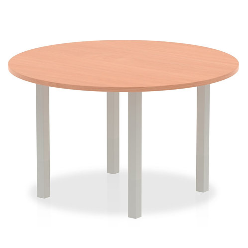 Impulse 1200 round Meeting Table Beech
