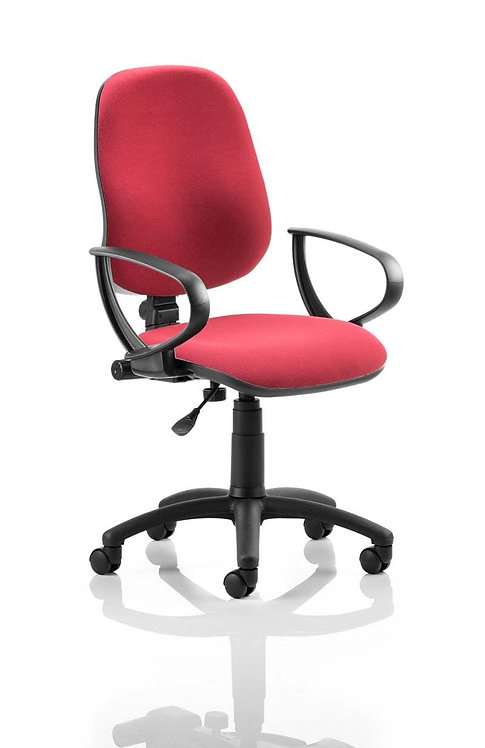 Eclipse Plus I Lever Task Operator Chair Wine With Loop Arms