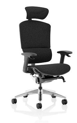Ergo Click Plus Black FabriMesh With Headrest