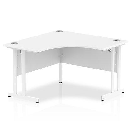 Impulse 1200 Corner Desk White Cantilever Leg Desk White