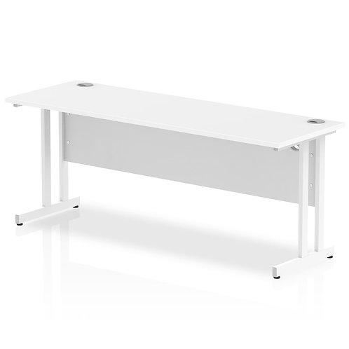 Impulse 1800/600 Rectangle White Cantilever Leg Desk White