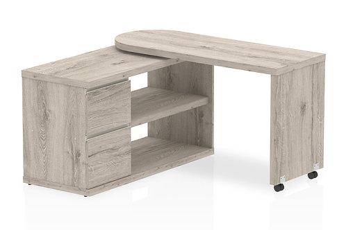 Fleur Smart Storage Desk Grey Oak