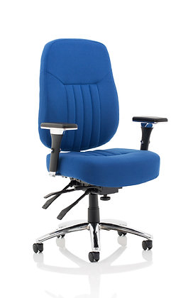 Barcelona Deluxe Blue Fabric Operator Chair