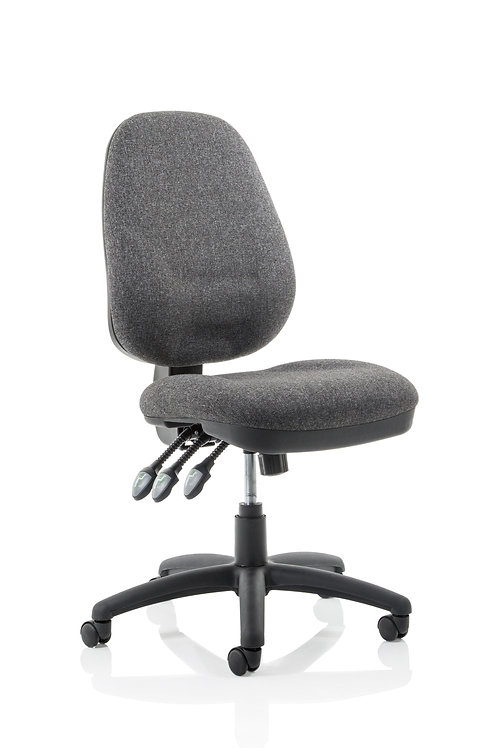 Eclipse Plus XL Lever Task Operator Chair Charcoal Without Arms