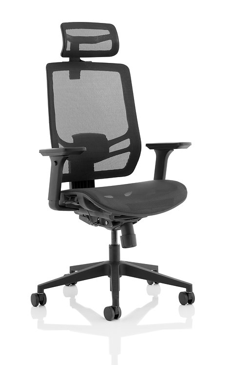 Ergo Twist Black Mesh Seat Mesh Back with Headrest