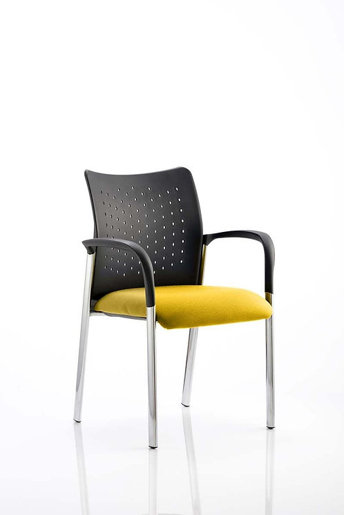 Academy Bespoke Colour Seat With Arms Senna Yellow