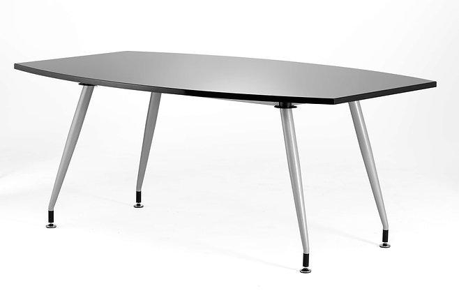 Black Gloss Writable 1800 Boardroom Table