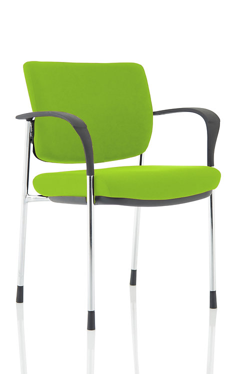 Brunswick Deluxe Chrome Frame Bespoke Colour Back And Seat With Arms