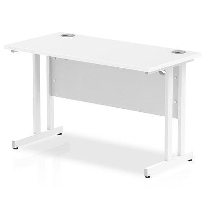 Impulse 1200/600 Rectangle White Cantilever Leg Desk White