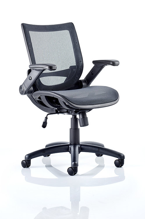 Fuller Task Operator Mesh With Folding Arms Task Operator Chair