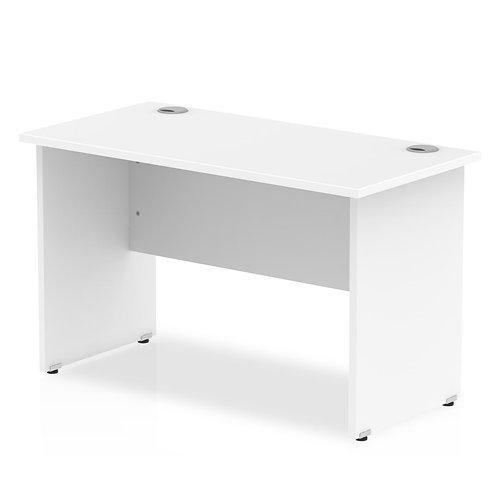 Impulse 1200/600 Rectangle Panel End Leg Desk White