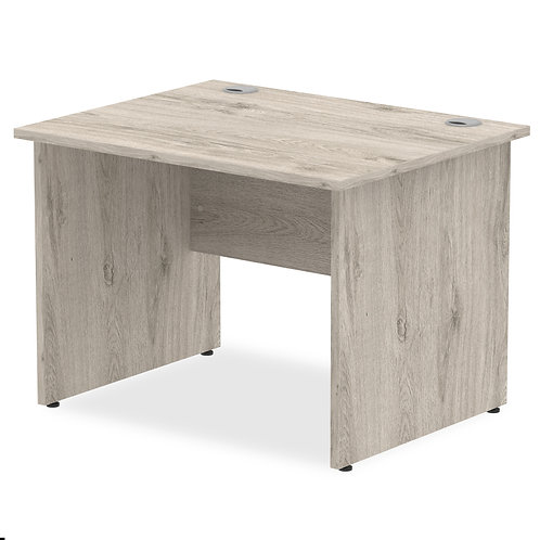 Impulse 1000/800 Rectangle Panel End Leg Desk Grey Oak