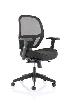 Denver Black Mesh Chair No Headrest