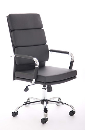 Advocate Executive Chair Black Soft Bonded Leather With Arms