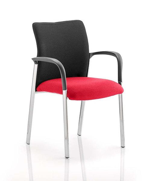 Academy Black Fabric Back Bespoke Colour Seat With Arms Bergamot Cherry