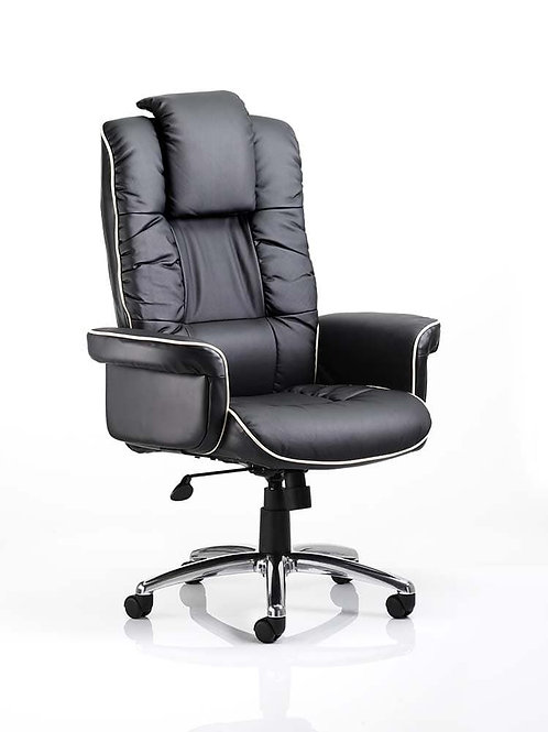 Chelsea Executive Chair Black Soft Bonded Leather With Arms